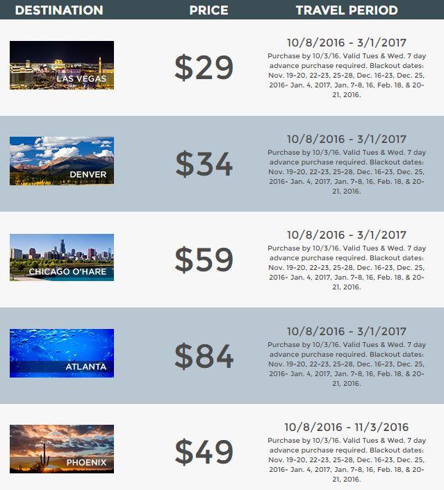 Hot deals airfares