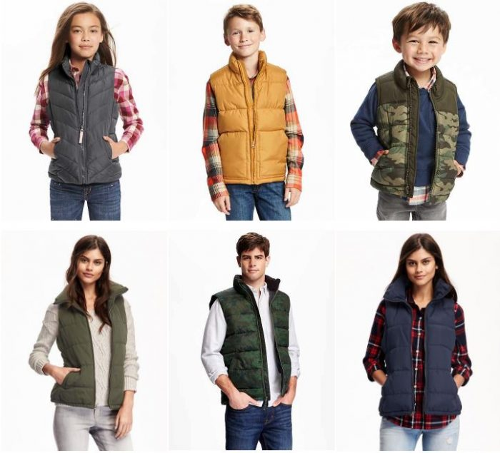 218b8d14d762 Old Navy Frost-Free Quilted Vests for  12 for Kids and  15 for ...