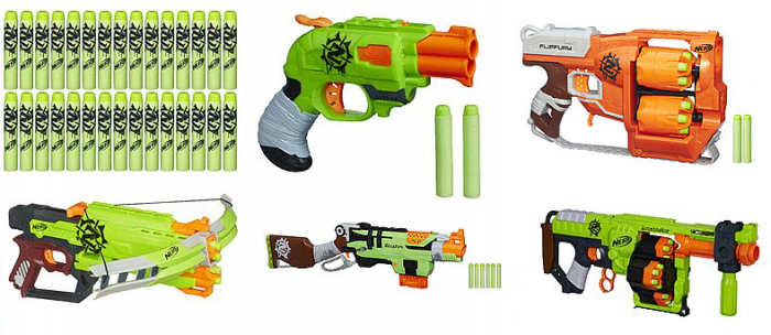 I watch Nerf guns all year for sales and this one is good! We own 3 of  these Zombie Strike Guns and my kids ...