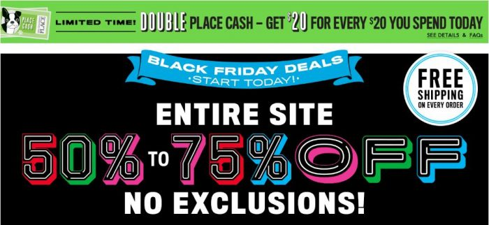 Childrens place black friday