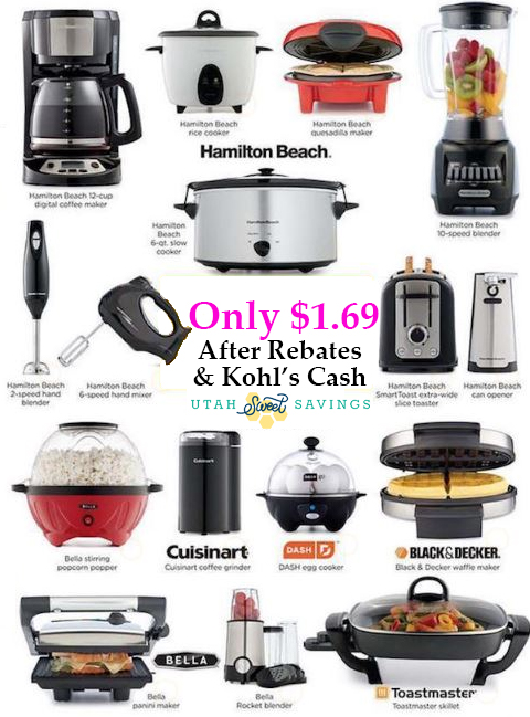 3 Small Kitchen Appliances Just $1.69 After Kohl's Cash & Rebates ...