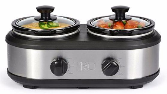 tru-dual-crock-buffet-slow-cooker