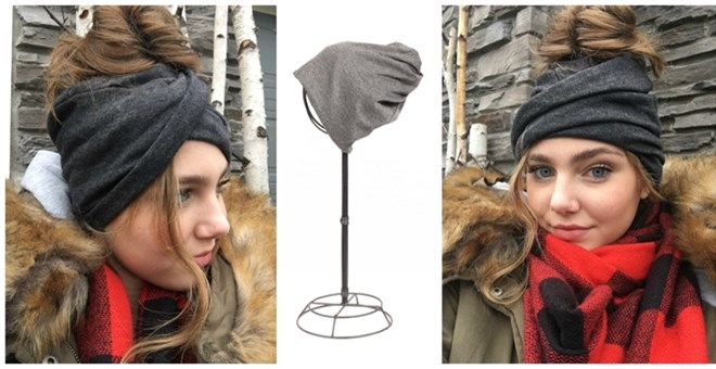 Versatile Peek-a-Boo Pony Tail Beanies for  6.99!  Wear 4 Different ... 68b8bdbaaab0