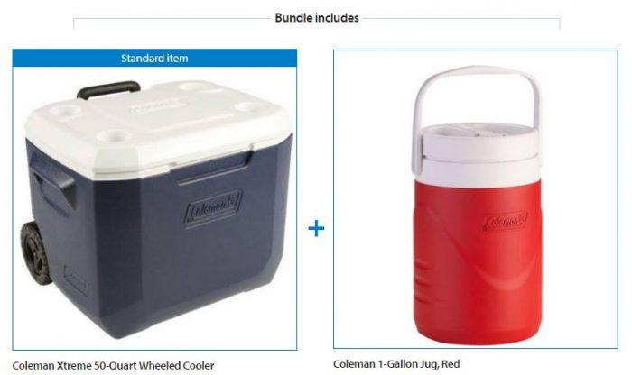 coleman-xtreme-50-quart-wheeled-cooler-with-1-gallon-jug-value-bundle