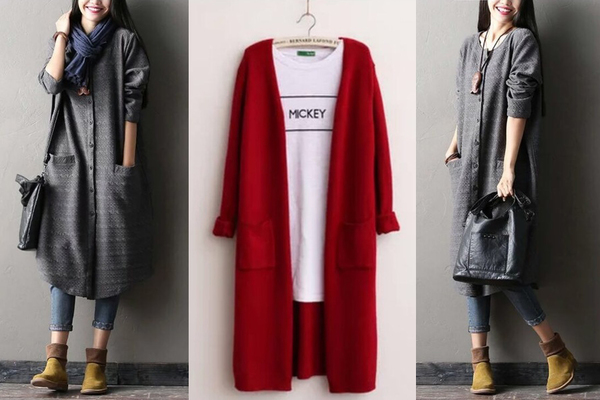 Soft Maxi Cardigans or Thick Textured Maxi Cardigans for $14.99 ...