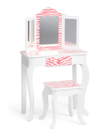 Zebra Print Vanity Set Or Fancy Mansion Doll House For 50 Reg 99 Free