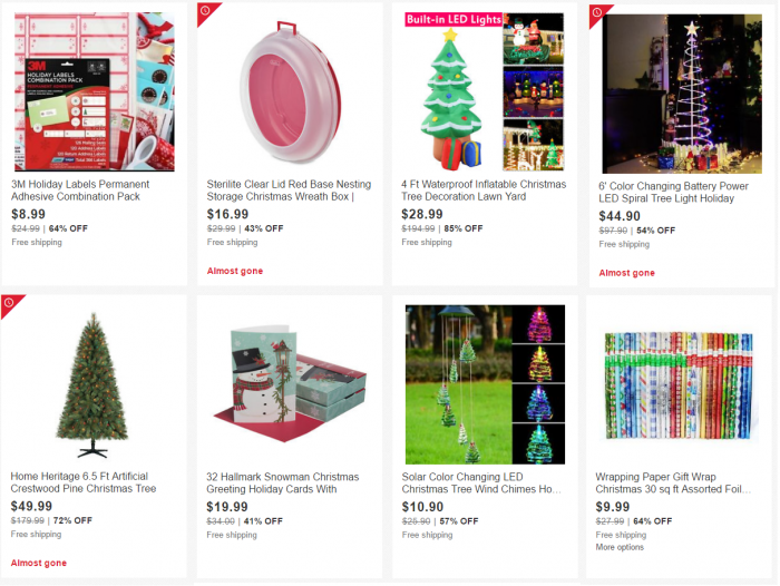 Holiday Decor Up to 85% Off! Save on Trees, Lights, Greeting Cards ...