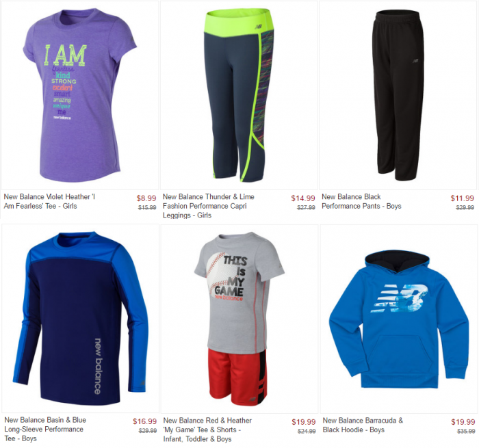 fd008bcb4c05e Kids New Balance Athletic Apparel 45% Off! Starts at $8.99! – Utah ...