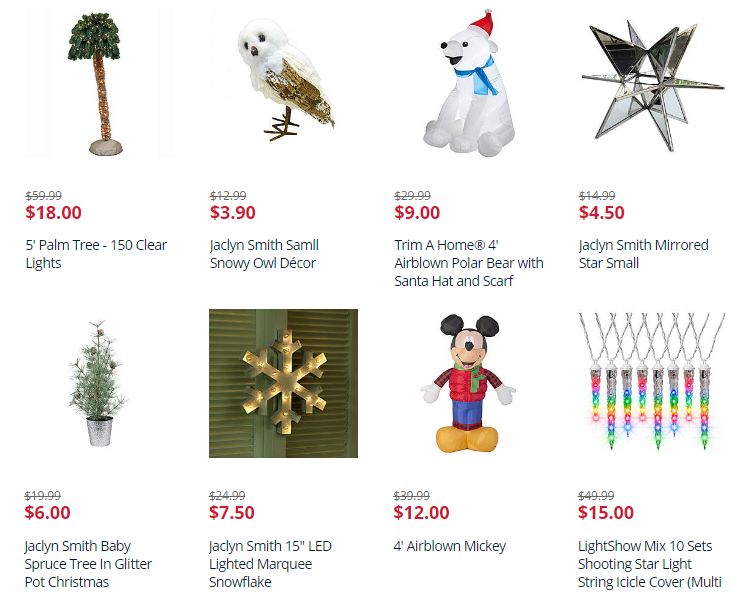 Up to 70% Off Christmas Decor! Yard Inflatables from $9, Snowflake ...