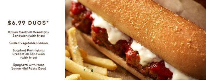 Olive Garden Breadstick Sandwiches Are Really Happening: Olive Garden Lunch Duos From $6.99 + 15% Off Online Orders