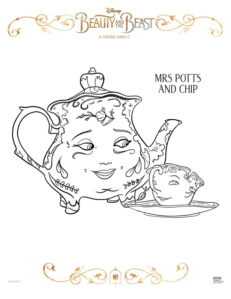 Yay So While You Wait Color These FREE Printable Beauty And The Beast Coloring Pages Click Images Below To Get A PDF File Of That Page
