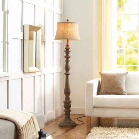 This Is One Of My Favorite Lamps To Compliment Farmhouse Style Or Casual  Spaces. I Love The Turned Wood And The Gorgeous Distressed Finish.