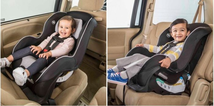 evenflo tribute sport convertible car seat for $34 88 (reg $74 88this evenflo tribute sport convertible car seat is good rear facing from 5 35 pounds and forward facing for 20 40 pounds!