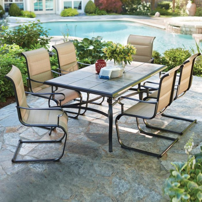 Hampton Bay Belleville 7 Piece Padded Sling Outdoor Dining