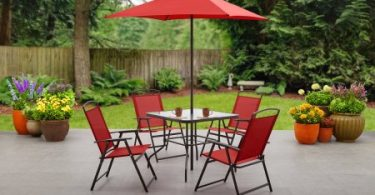 Mainstays Albany Lane 6 Piece Folding Dining Set For Just $87 Shipped (Reg.  $124) *Blue Or Red*