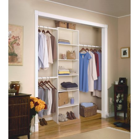 Beau Closetmaid Vertical Closet Organizer $42.20 Includes Tower And Hanging  Rods!!