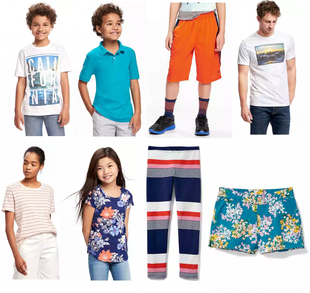 HUGE Old Navy $5 Sale! Includes Shorts, T-shirts, Leggings, MORE ...