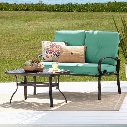 Admirable Claremont Patio Loveseat Coffee Table 2 Piece Set 169 99 Ocoug Best Dining Table And Chair Ideas Images Ocougorg