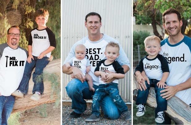 a9f9c7a3 How cute are these Daddy and Me shirts? If I had a little boy, I would be  ALL OVER these! Daddy & Me Matching Raglan Shirts & Bodysuits – Perfect ...