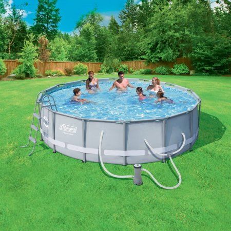 Coleman power steel 14 x 42 frame above ground swimming for Swimming pool design utah