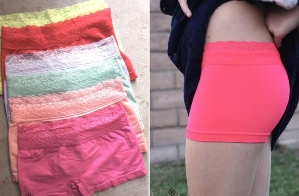 Girls No Show Shorts Set of 6 for $16 98 Shipped $2 83
