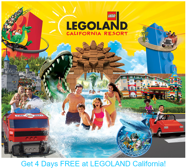 Legoland California Buy 1 Day Get 4 Days Free Utah