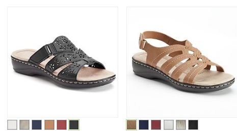 1055b498f59e These Croft   Barrow® Women s Sandals drop in price to only  10.49  (regularly  44.99) + Free Shipping w Kohl s Card. Choose from two adorable  styles in six ...