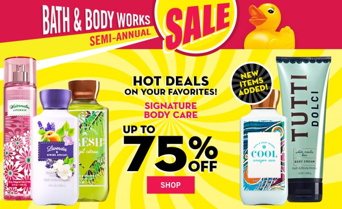 Tips for Maxing Out Your Savings in the Bath & Body Works Semi-Annual Sale. 1. Use coupons with the sale. Bath & Body Works always seems to have coupons available. Pair them with the Semi-Annual Sale for big discounts. For instance, right now, you can get $10 off $ 2. Coupon expired? No worries. Surprise! Bath & Body Works has a three-day grace period for coupons. You can use coupons three .