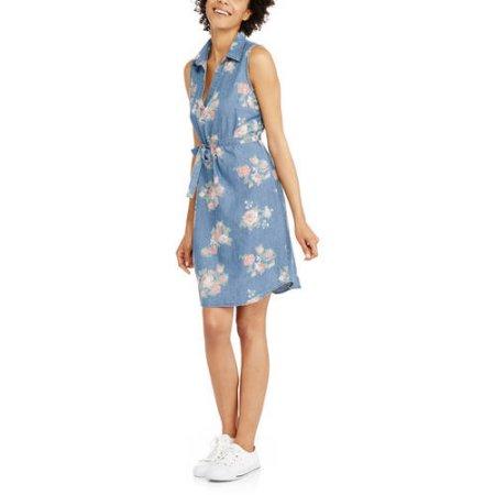 ab4c915743ad Faded Glory Women s Denim Sleeveless Dress  8.50 (regularly  13.96)