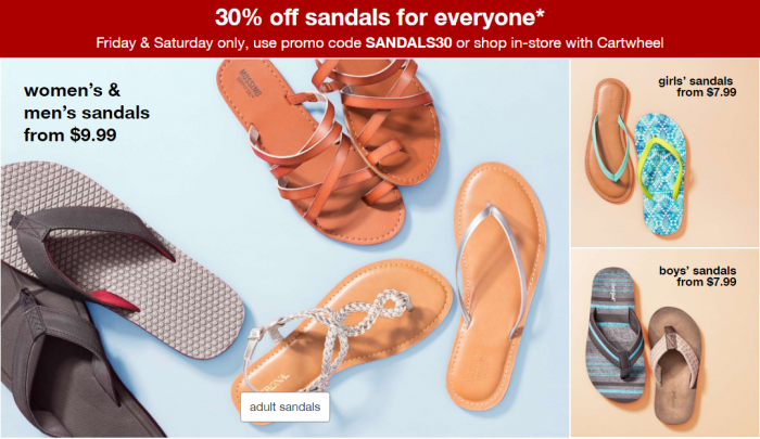 43dd3e5273c1 Target  30% Off Sandals for the Family! – Utah Sweet Savings