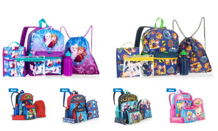 096944b326 5-Piece Character Backpack Sets from  12.88!  Frozen