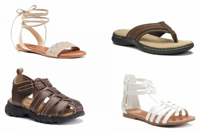 632f0205ae24 Kohl s HUGE Sandal Sale   4 pairs of Sandals for as low as  8.80 each!   Today Only