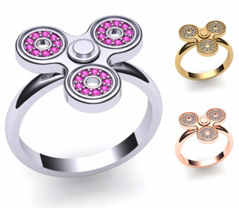 fidget spinner earrings fidget spinner ring with cubic zirconia for 9 99 free shipping utah sweet savings 1586