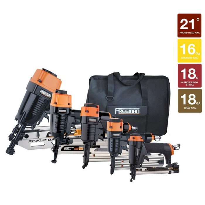 Framing/Finish Combo Nail Gun Kit (5-Piece) for $229.88 (Reg $399.99 ...