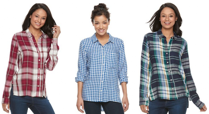879f7d612 These super cute Juniors' Button Down Shirts are an amazing price over a  Kohl's right now. They will be perfect on your teen.