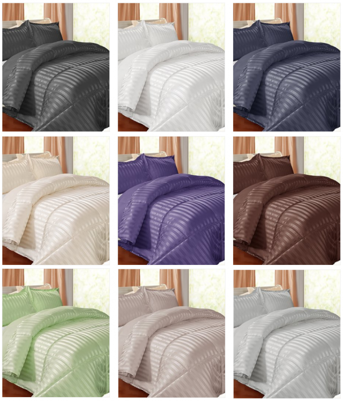 Fancy  Today Only Kathy Ireland Down Alternative Comforter Set for Reg Twin Full Queen or King