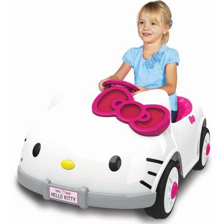 my little girl would freak out if she woke up on christmas morning to this darling car it even has working sounds an mp3 cord and speaker allows your