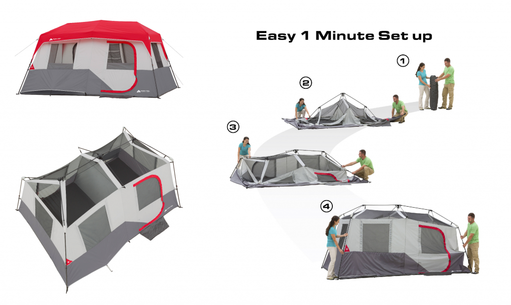 Ozark Trail 13′ x 9′ x 72″ Instant Cabin Tent, Sleeps 8 for $99 (Reg