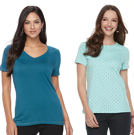34a9f4a1 Kohl's has their Women's Tops on sale for $7.99. Choose from brands like  Sonoma, Croft and Barrow, Apt. 9 and more. There are a bunch of styles  available.