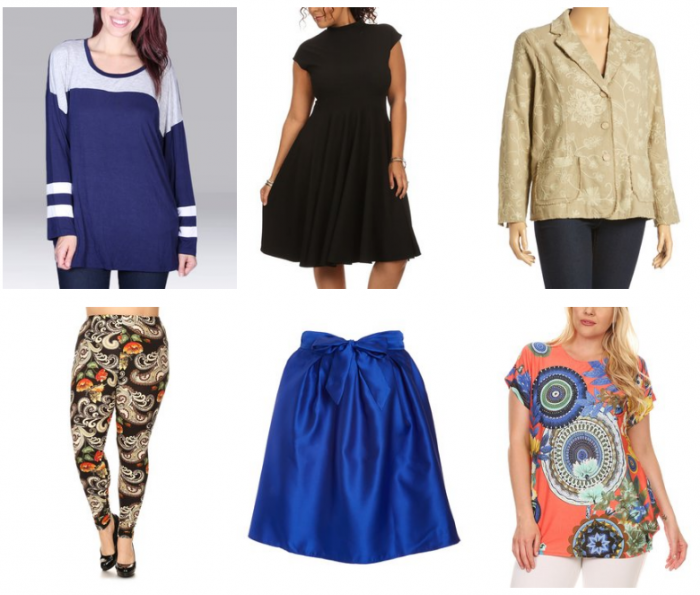 8c20768e6e7 Score some amazing deals on Women s Plus Size Clothing! There s everything  from dresses and blazers to tunics and leggings! Sizes go up to 4x.