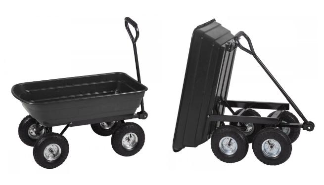 Heavy Duty Garden Utility Dump Cart For $39.99 Shipped (Reg $49.99)!