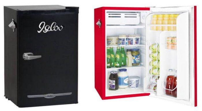 igloo 3 2 cu ft retro bar fridge with side bottle opener for reg utah sweet. Black Bedroom Furniture Sets. Home Design Ideas