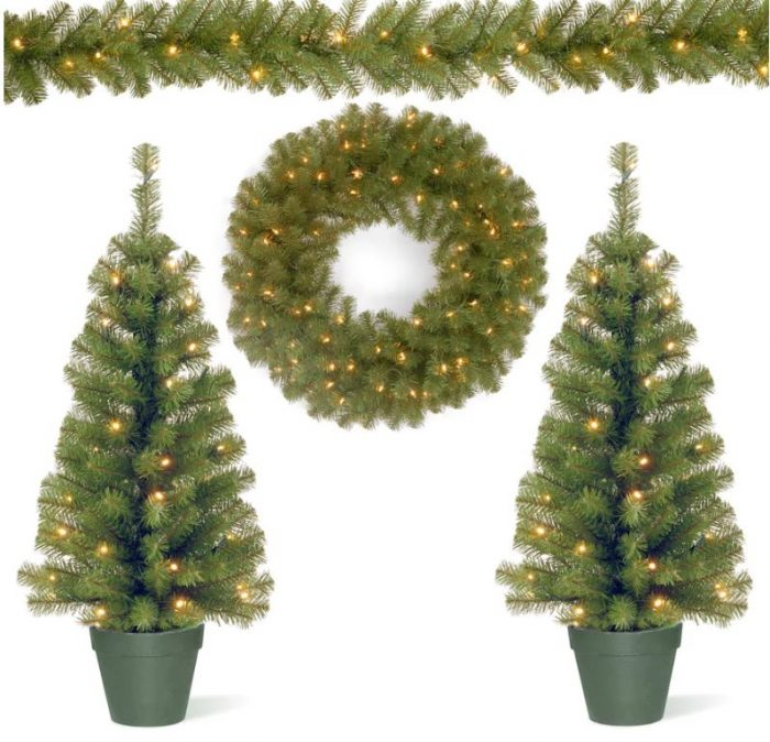 Kohls Christmas Trees.Battery Operated Pre Lit Artificial Trees Garland Wreath