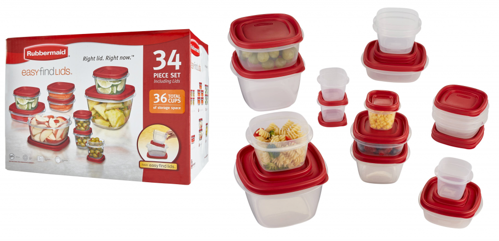 *HOT* 34 Piece Rubbermaid Easy Find Lids Food Storage Container Set For As  Low As $6.65 Shipped (Reg $24.99)!