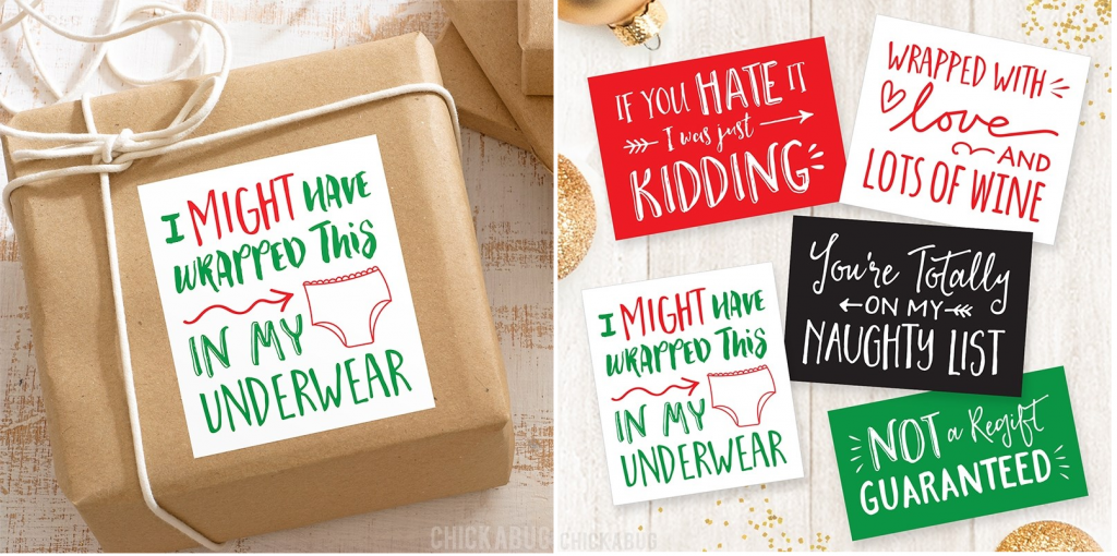 Funny Christmas Gift Stickers for $5.87 Shipped!