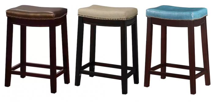 Superb Linon Allure Counter Stools As Low As 41 99 99 99 Utah Andrewgaddart Wooden Chair Designs For Living Room Andrewgaddartcom