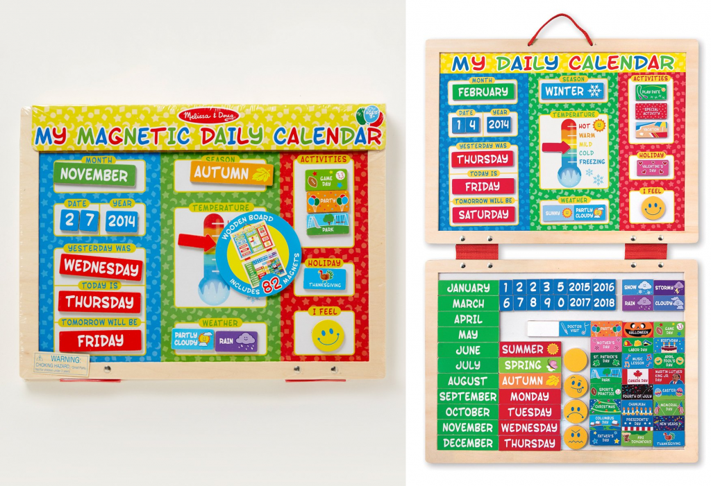 Melissa Doug My First Daily Magnetic Calendar Set For 12 49