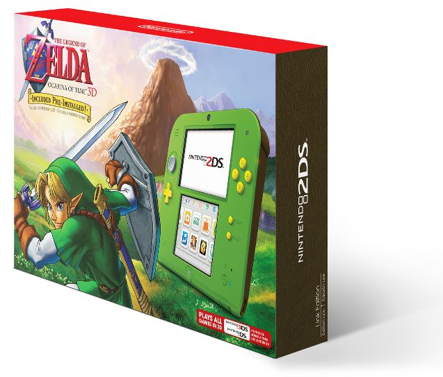 Nintendo 2ds system with the legend of zelda ocarina of time 3d for 79 utah sweet savings - Ocarina of time 3ds console ...