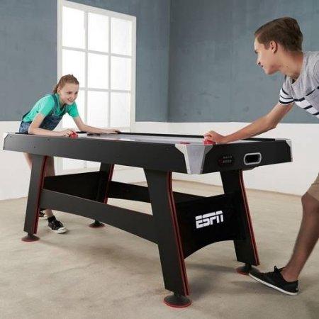 ESPN 72 Inch Air Powered Hockey Table With Table Tennis Top U0026 In Rail  Scorer $89.47 (reg $193.41)