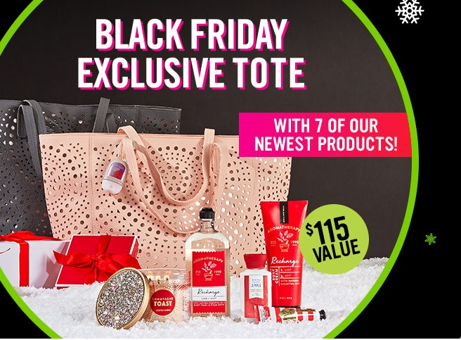 Bath Amp Body Works Exclusive Black Friday Exclusive Tote In
